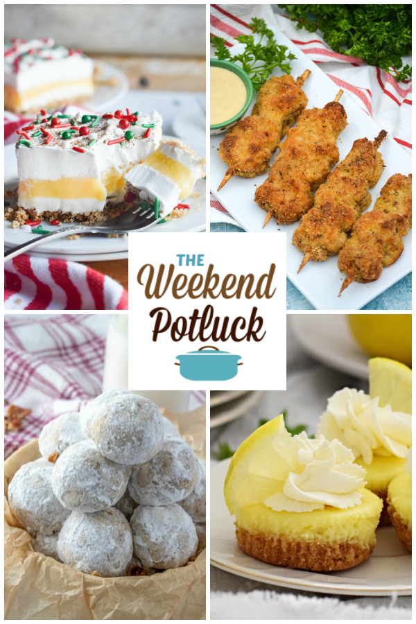 A virtual recipe swap with Eggnog Dessert, Nonna's City Chicken, Snowball Cookies, Mini Baked Lemon Cheesecake and more!