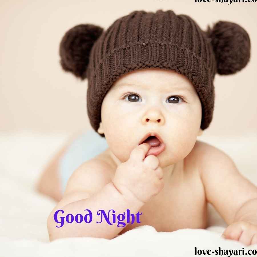 good night with baby images