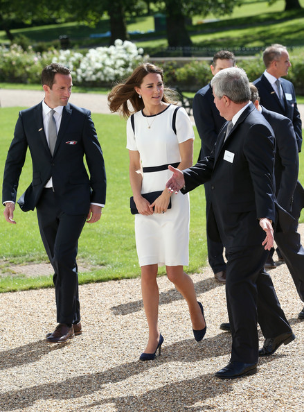 Kate Middleton visited the National Maritime Museum in Greenwich for the Ben Ainslie America's Cup Launch