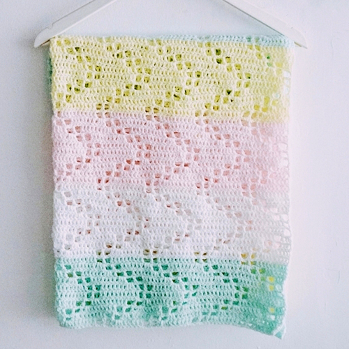 Free Crochet Patterns Childrens Blankets : Crochet For Children: The Hopscotch Crochet Baby Blanket ...