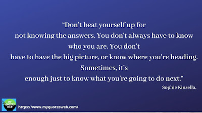 Best Quotes on Life Lessons - Don't beat yourself