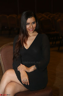 Kyra Dutta in black At Rogue Movie Audio Launch ~  025.JPG