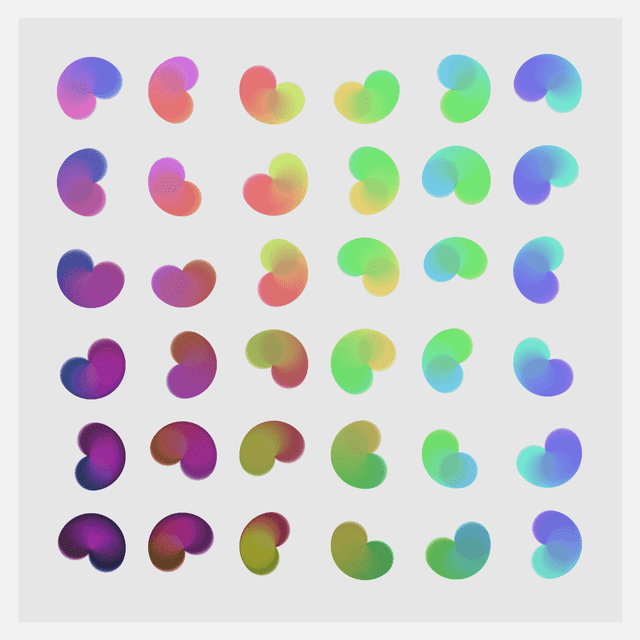 Generative art example made with Processing in this article.