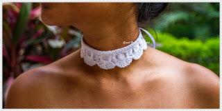 crochet neckwear, crochet jewellery
