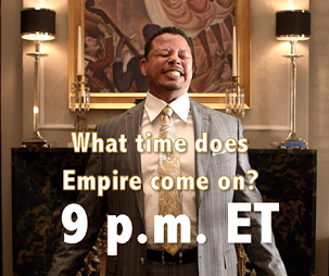 what time does empire come on