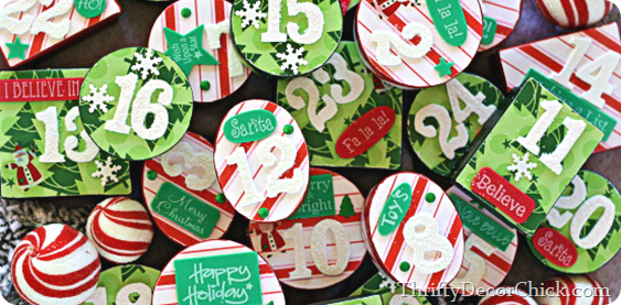 DIY Christmas advent using cardboard boxes