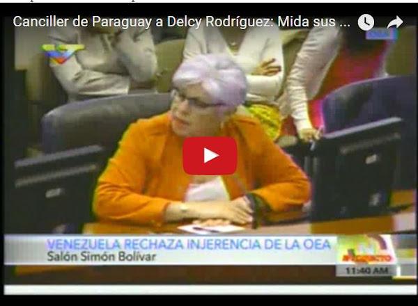 Canciller de Paraguay pone otra vez a Delcy la fea en su lugar