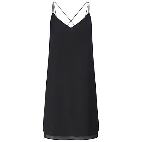 czarna sukienka l slip dress