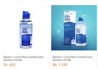 price of renu fresh contact lens in Nepal