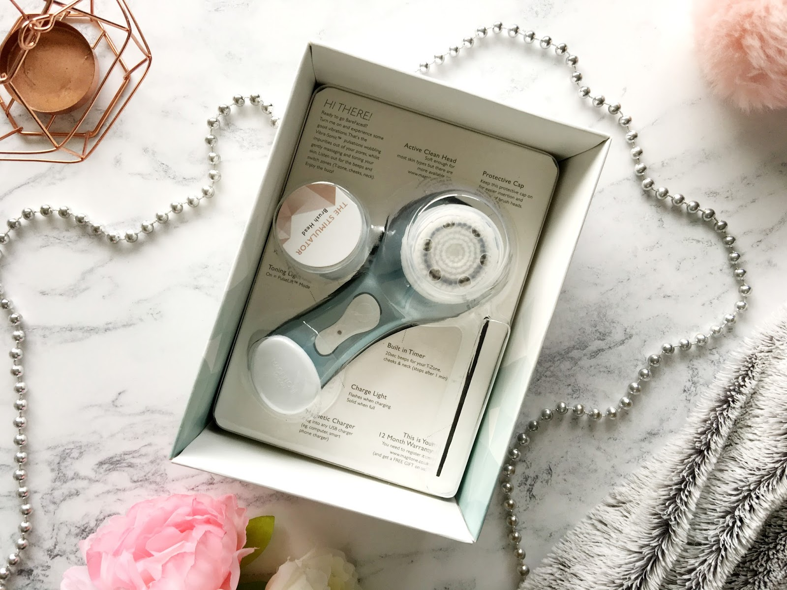 Magnitone Barefaced Vibra-Sonic Shimmer Cleansing Brush