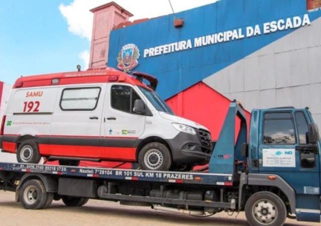 Governo de Escada conquista nova ambulância para o SAMU