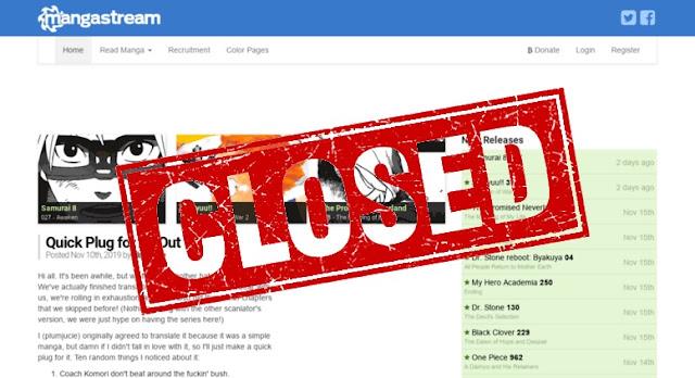MangaStream Closed - Mangastream Tutup