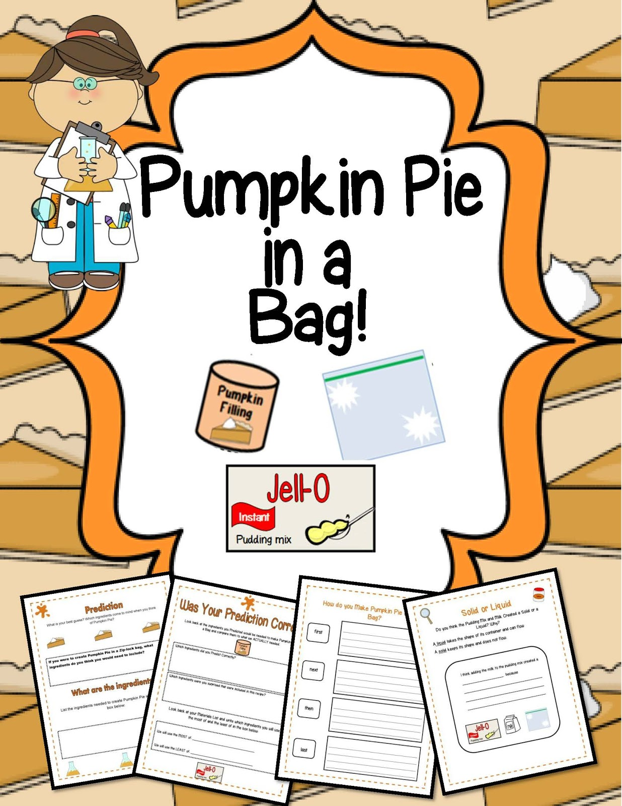 Little Miss Middle School Thanksgiving Science Activity