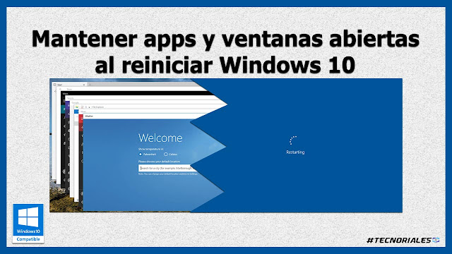 restaurar ventanas al reiniciar windows 10