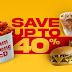 省钱好康哦! McD MC Delivery 麦当劳的外送服务 在Crazy Hour 1PM to 4PM 时段,有让你节省高达40%的优惠!