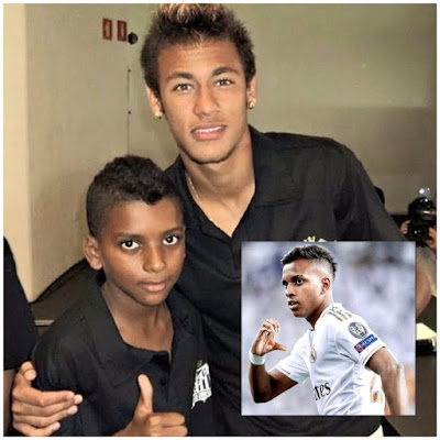 #Football is too fast! #Young #Rodrygo when he was a #fan of #Neymar. And yesterday he #scored a triple in the #Champions #League With #Real #Madrid. #CR7