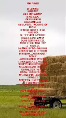 Image of Motivational poem for kids and students, Image of poem on farmer
