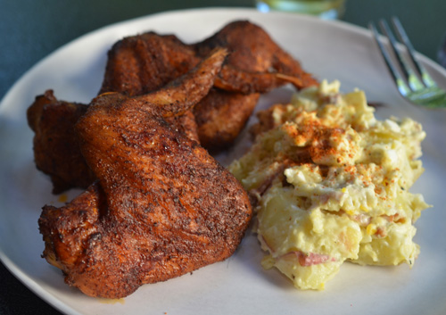 Crispylicious Knoxville style dry rubbed wings on the big green egg