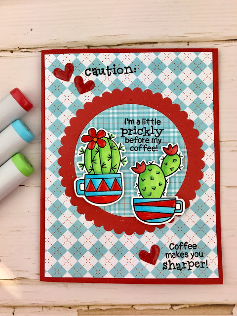 Caution by Meghan features Cuppa Cactus by Newton's Nook Designs; #newtonsnook