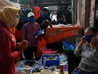 Cegah Corona,  Pedagang Pasar Godean Diedukasi  Pakai Masker