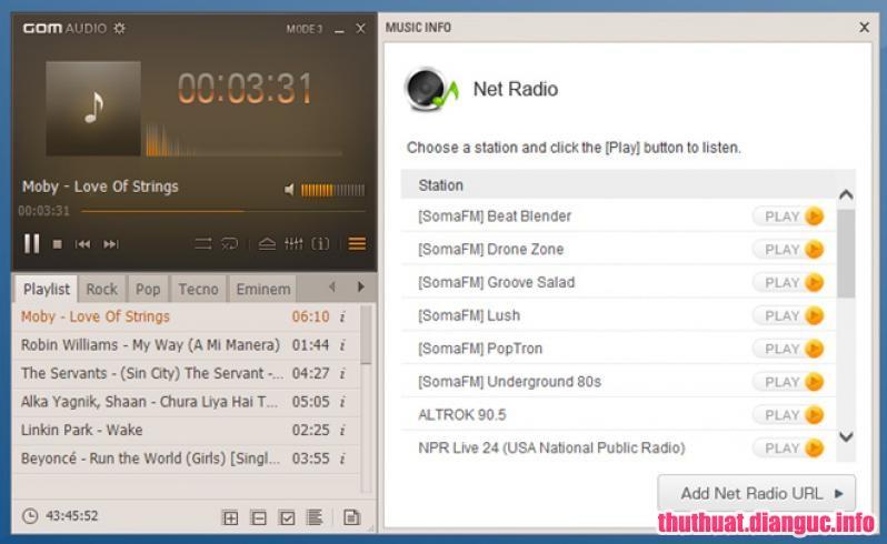 Download GOM Audio Player 2.2.16.0 – Phần mềm nghe nhạc miễn phí