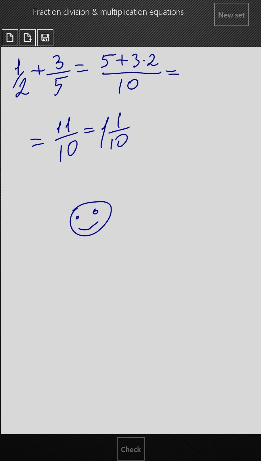 Math Extreme: Pen input and draft paper