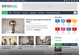 Ideas mag blogger template premium free download