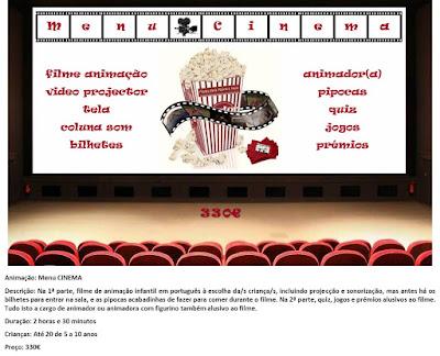 Animação Menu Cinema