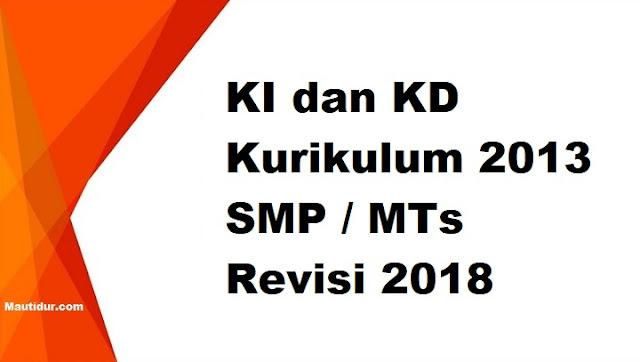 KI dan KD Kurikulum 2013 SMP