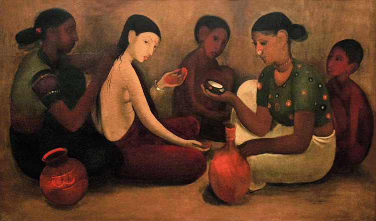 Bride's Toilet by Amrita Sher-Gil (Oil on Canvas) - 1937