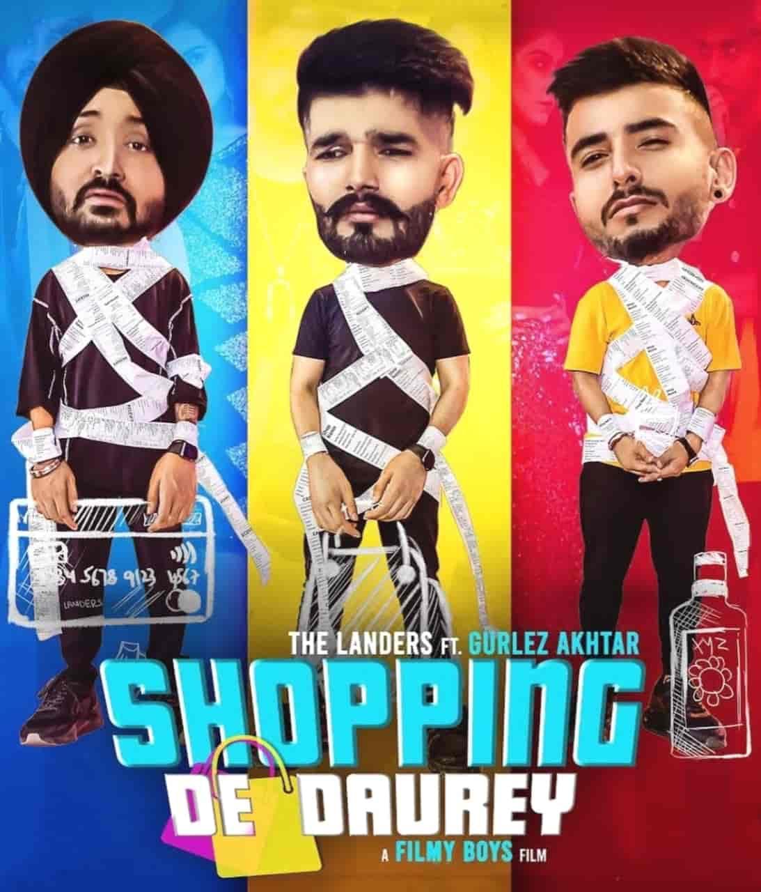 Shopping De Daurey Punjabi Song Image Features The Landers