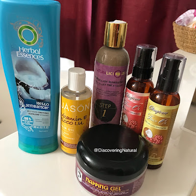 Natural Hair Products Empties | OCTOBER 2017 | Naturalicious, Herbal Essence, Elongtress | DiscoveringNatural