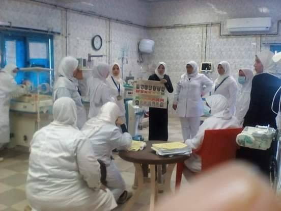 بالبحيرة .. إستمرار تدريب العاملين بالمستشفيات والإدارات الصحية التابعة، على إجراءات مكافحة العدوى وتعريف حالة إشتباة الكورونا والحالة المؤكدة .