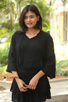 Actress Hebah Patel Stills in Black Mini Dress at Angel Movie Teaser Launch  0001.JPG