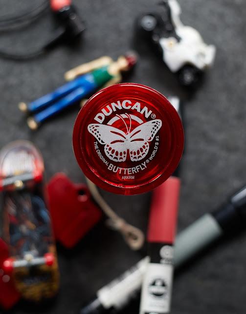 Duncan, yo-yo, flat lay, product photography,