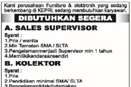 Loker Perusahaan Furniture & Elektronik Kepulauan Riau