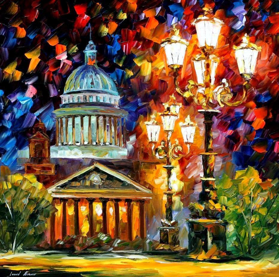 São Petersburgo - Pinturas de Leonid Afremov | O mestres da  espátula