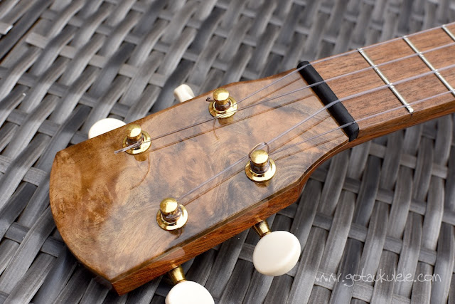 Chris Perkins Tenor Ukulele headstock
