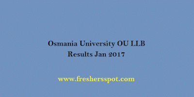 Osmania University OU LLB Results Jan 2017