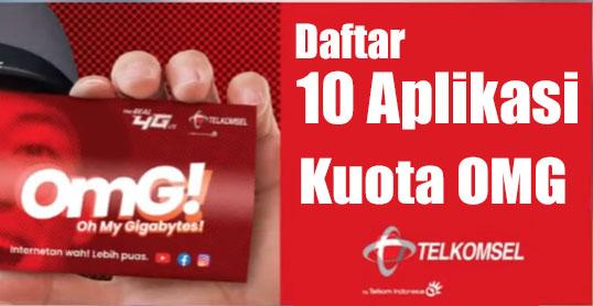 kuota omg telkomsel dapat diakses untuk 10 aplikasi ini