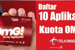 Paket OMG Telkomsel Untuk Apa Saja? Ini dia 10 Aplikasinya
