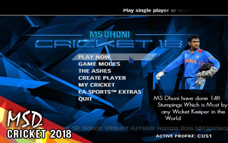 Hd Studioz MSD Cricket 2018-2019