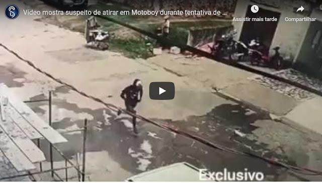Vídeo mostra suspeito de atirar em Motoboy durante tentativa de homicídio