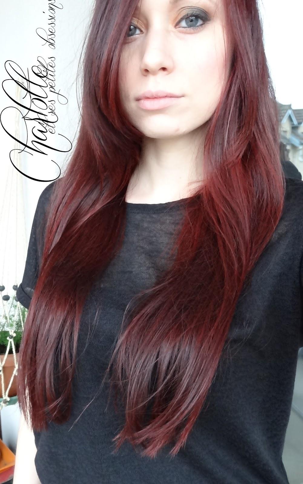 coloration cheveux rouge cerise coiffures la mode de cette saison. Black Bedroom Furniture Sets. Home Design Ideas