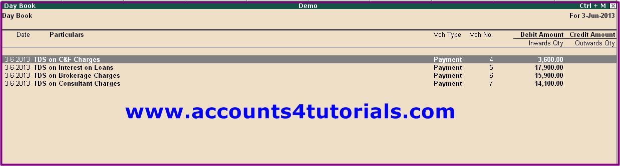 learn tds in tally