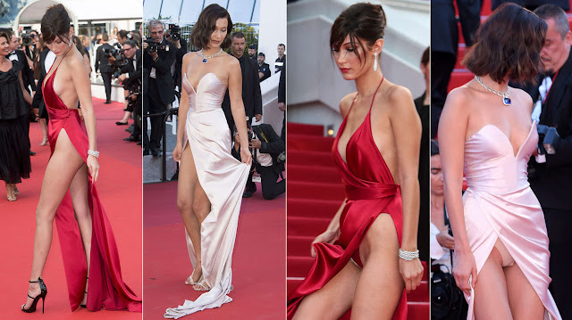 Bella Hadid between 2016 and 2017 in Cannes