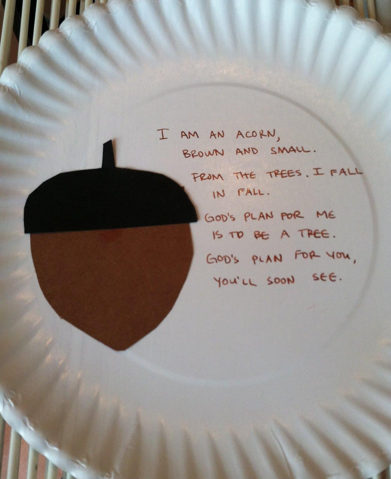 Acorn Poem The Kid Friendly Home