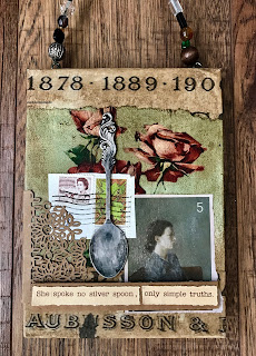collage with spoon and roses
