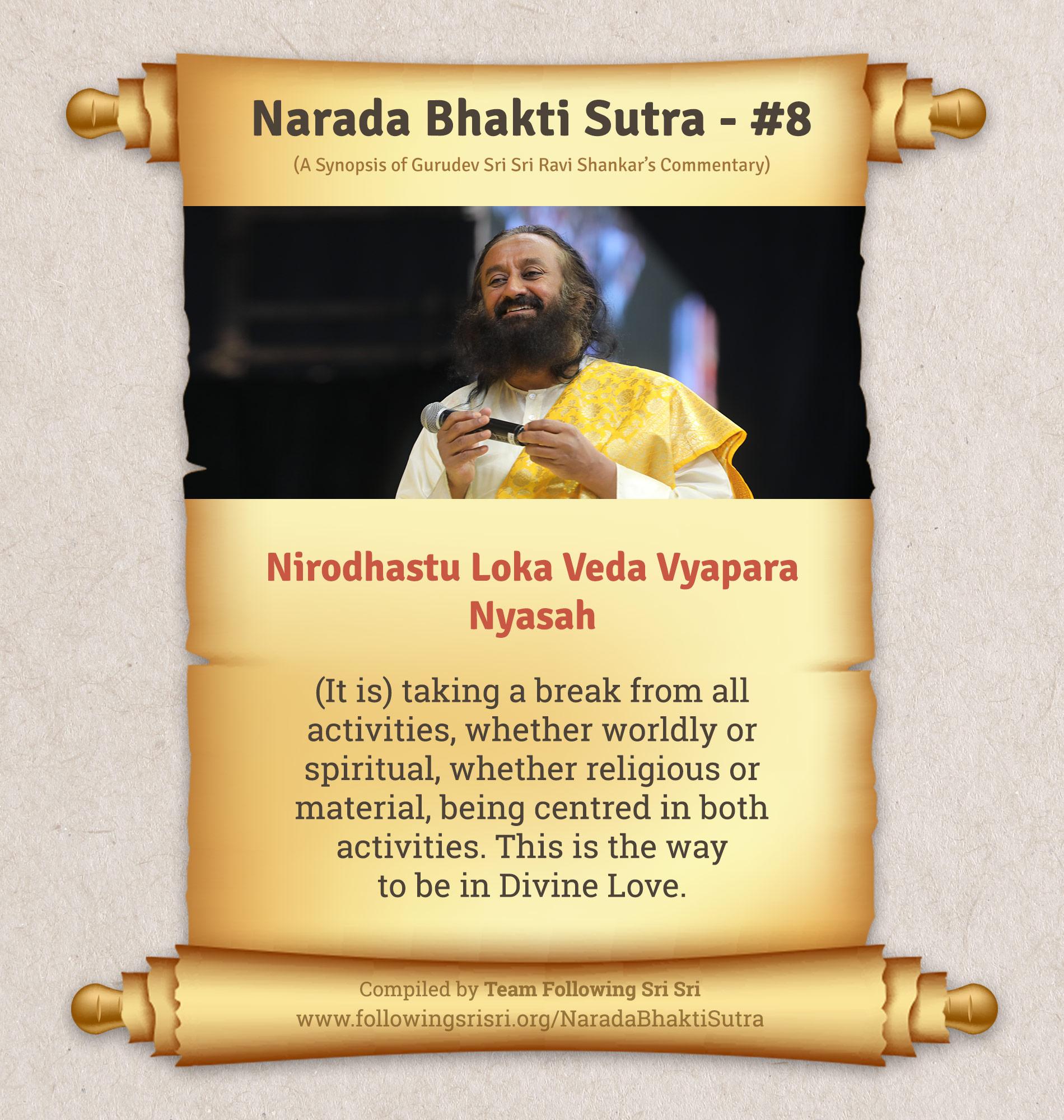 Narada Bhakti Sutras - Sutra 8