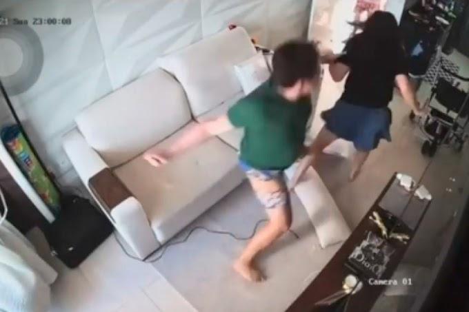 VIOLÊNCIA - Esposa de DJ Ivis posta vídeo onde aparece sendo agredida pelo músico na frente da filha do casal